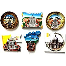 SET 3C - 6 PIECES FRIDGE MAGNETS MAGNET FOR SOUVENIR OF ROME Rome Souvenir From Italy