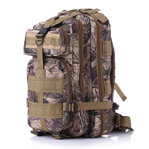 Camouflage All'aperto Fan Militari Alpinismo Borsa A Tracolla Zaino Trekking 3P Zaino,B A