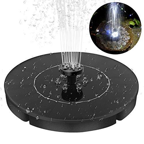 Especificación: Panel Solar: 9V 2.4WDiámetro del panel solar: 180 mmPotencia de la bomba: 0.5-0.85WElevación máxima de la bomba: 70 cmAltura máxima del agua: 30-60cmVolumen máximo de flujo: 150L / hCantidad de LED: 6Nivel impermeable: IPX8Vida útil:...