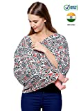 #4: Feather Hug 360° Nursing Cover for Breastfeeding mother, women, Mom, Multi Use, Feeding Cloak,Poncho, scarf, ups, Wrap, Breathable, Canopy, Babysitting, Maternity, Kurti, Shawl, Apron, Poplin (Red Black Print)