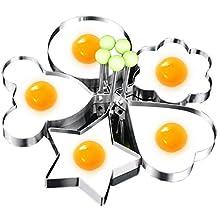 Romote Moldes Egg Anillos Huevo Frito Shaper Huevo en Forma de Anillo de Acero Inoxidable Molde