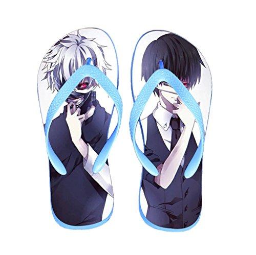 Bromeo Tokyo Ghoul Anime Unisex Flip Flops Zehentrenner Flip Pantoffeln 37