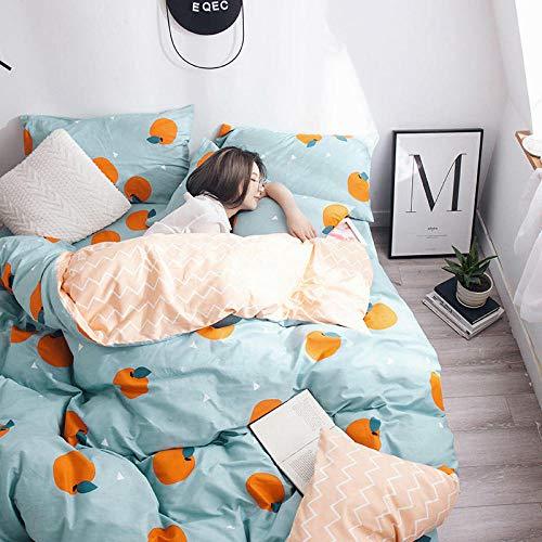 Baumwolle Köper Schleifen vierteilige einfache Bettwäsche Bett Vier Sätze Baumwolle 02 Bettbezug 160 * 210CM, Laken 120 * 200CM + 30CM (Baby-bettwäsche-blatt-satz)