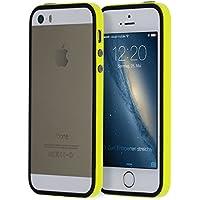 doupi SuperSlim TPU Bumper quadro della protezione Case per iPhone 5 5S SE Copertura Silicon Custodia Caso Cover giallo