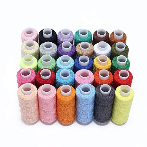 Hamhsin, set da cucito da 30bobine difilo multiuso in poliestere,ognuna da 228,6m per cucire a mano o a macchina