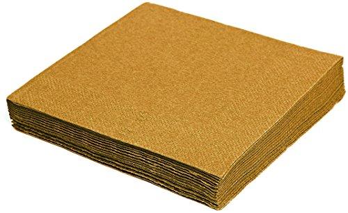 Kigima Servietten Set 40 Stück 3-lagig 33x33 cm Gold