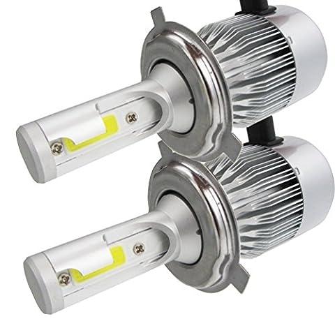 2* H4-H/L LED Phares Voiture Ampoules, NuoYo LED Phare Kit de Ampoule de Rechange Auto Véhicule Etanche IP65 110W 9200LM 50000 Heures Durée de Vie,