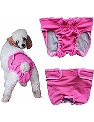 FEESHOW Pet Menstruales Bragas De Perras En La Ropa Interior Fisiológica Del Pañal Reutilizable Pant