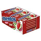 mentos 3 Gum Fruity Fresh Apfel,Erd-& Himbeere zuckerf. 12x14St.