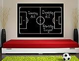 Klebefieber Tafelfolie Fußballfeld B x H: 100cm x 74cm Farbe: Schwarz