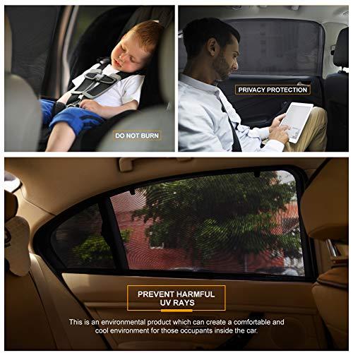 PHYLES 110 * 50 cm Parasol Coche,  Parasol Coche Infantil Lateral,  Protege Niños y Mascotas contra los Rayos UV,  Parasol Coche bebé para la Mayoría de los Vehículos,  Paquete de 2