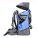 Rucksacktrage für Babys und Kleinkinder, Wander-Transport-Rucksack, Regenschutz und Sonnenschutz für das Kind, blau