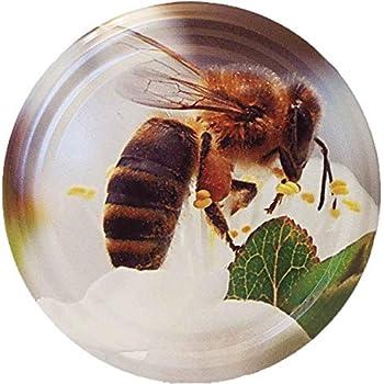 Germerott Bienentechnik 50 St/ück 82er Twist Off Deckel Comic-Biene auf Rose Preis Pro St/ück 0,298 Euro