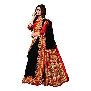 IndoPrimo Women's Bhagalpuri Georgette Saree With Blouse Piece