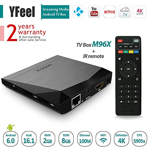 TV Box Android 6.0 Mashmallow Amlogic S905X Chipset Kodi 16.1 Fully Loaded For 4K Smart Streaming Tv 2G/8G Wifi HD 1080P OTT Set Top