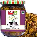 Add me Mixed Supreme Pickle Homemade Taste Mix Rajasthani Pickles Achar 500gm Glass Jar