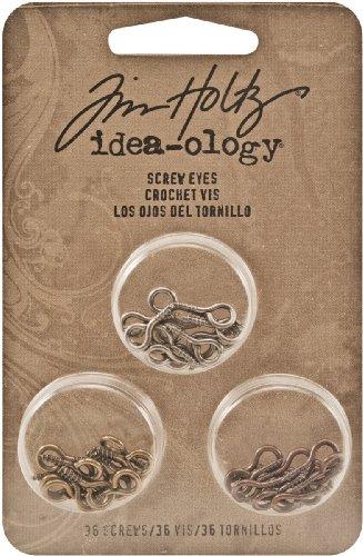 Idea-Ology metallo vite occhi 36/Pkg-ottone, bronzo, argento (Digitale Abbellimenti)