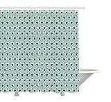 Yeuss Rideau de Douche Arabe, Formes hexagonales à Motif de tuile géométrique,...