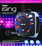 i.Sing Vivitar CD Party Black Karaoke Machine with Microphone & Light Effects