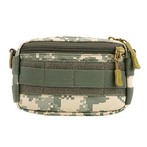 Gazechimp Outdoor Molle Tasche Multifunktionell Beutel Taktische Freizeittasche mit Schultergurt Digital ACU
