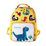 Voberry@ Children Cartoon Dinosaur School Bag Backpack Shoulder Bag for Cute Toddler (, L) Large Yellow