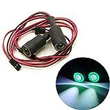 1 Set 1/10 Echelle RC Crawler Voiture 13mm Vert+Blanc 2 Leds Angel Eyes LED Headlight / Taillight