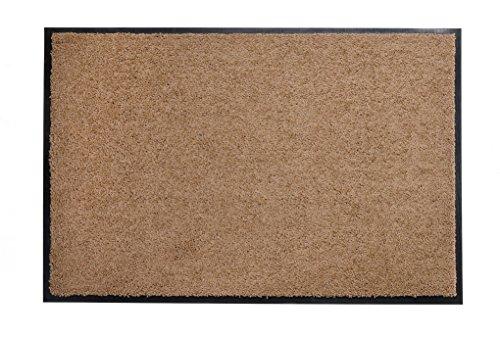 EVODIA Premium Schmutzfangmatte für den Außenbereich, taupe - 60x90cm ★ Strapazierfähig ★ Lavendel-Duft ★ Frostsicher | Fußmatte für die Haustür | Türmatte, Sauberlaufmatte für den Innenbereich (60x 90cm, Taupe)
