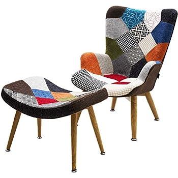 fauteuil scandinave patchwork stockholm cuisine maison. Black Bedroom Furniture Sets. Home Design Ideas