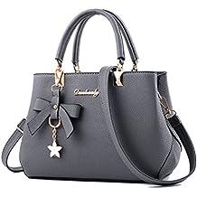 FOLLOWUS Women Handbags PU Leather Shoulder Bags Messenger Top-Handle Tote Bags