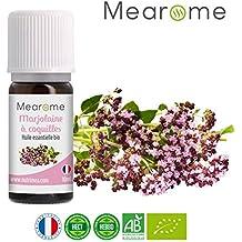 Huile essentielle de MARJOLAINE à COQUILLES BIO - 10 ml - 100% Pure et Naturelle, certifiée Biologique, HEBBD, HECT - Mearome, Qualité et Fabrication Française
