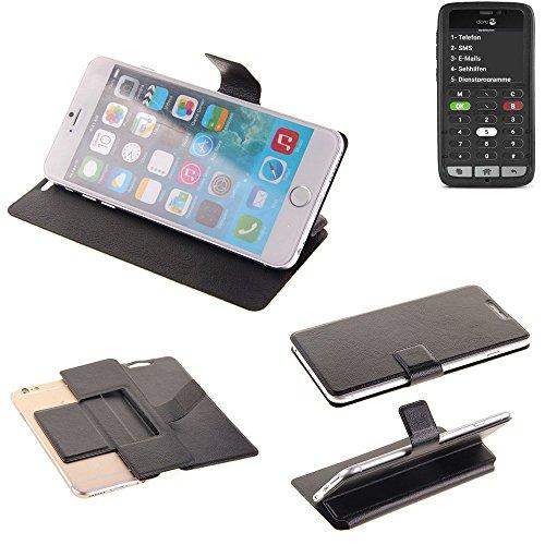 K-S-Trade Schutz Hülle für Doro 8031C Schutzhülle Flip Cover Handy Wallet Case Slim Handyhülle bookstyle schwarz