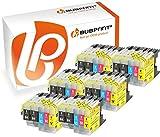 Bubprint 30 Druckerpatronen kompatibel für Brother LC-1220 LC-1240 LC1220 LC1240 für MFC-J430W MFC-J5910DW MFC-J6510DW MFC-J6710DW MFC-J825DW BK C M Y