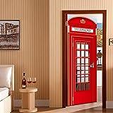Theshy Stickers Muraux Porte Frigo Autocollant Londres Téléphone Cabine Téléphone...