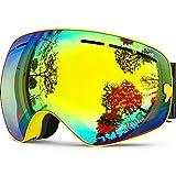 ZIONOR Lagopus X Snowmobile Snowboard Skate Skibrillen mit und Weitwinkel Anti-Nebel for Jungs Jugendliche Junior Kinder Damen Frauen Männer Jungen Mädchen Skibrillen