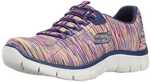 Imperio deportivo para mujer - Zapatillas de deporte de moda con ajuste holgado, azul marino / multicolor, 6.5 B (M) US
