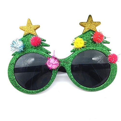 Brille Weihnachten (Tinksky Weihnachtsbaum Auge Gläser Party Fanci-Frames Innovative Plastik Kostüm Brillen für Weihnachten)