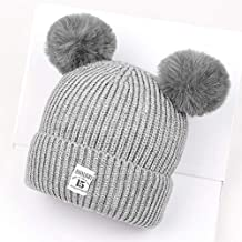 IBLUELOVER Chapeau Enfant Hiver Bonnet Bébé Bonnets Laine Tricoté Fille  Garçon Chaud Doux Chapeau Beanie avec 3173981890a
