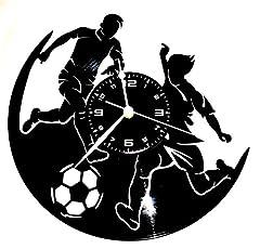 Idea Regalo - Instant Karma Orologio in Vinile da Parete Disco LP 33 Giri Idea Regalo Vintage Handmade - Sport Pallone CALCIO