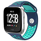 NO1seller Top NO1seller Top Bands Compatible for Fitbit Versa Small Large, Soft Silicone