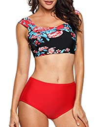 Angerella Mujer Vintage Conjunto De bikini Classical Hacer Subir Trajes De Ba?o Bikini