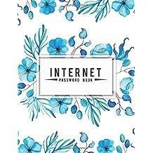 Internet Password Book: Blue Watercolor Floral (Large Print Password Keeper) - Discreet Password Organizer For Record a Usernames, Address, Password: Password Log: Volume 5
