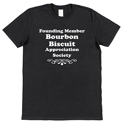 Founding Member Bourbon Biscuit Appreciation Society T-Shirt Men's Cotton