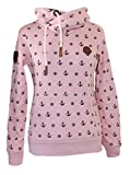 SQUARED & CUBED Mädchen Hoodie Anker Rosa Kapuzenpullover Sweatshirt MT25 (98/104)