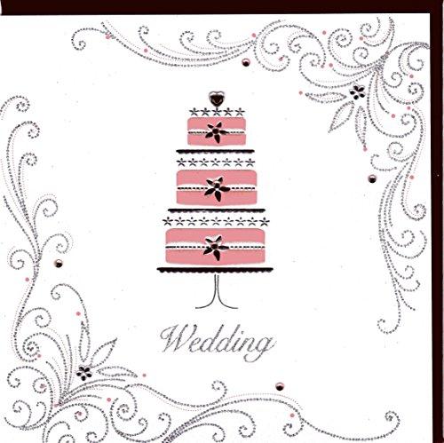 Edle Glückwunschkarte zur Hochzeit von Koko Designs mit Prägung, Folie und Kristallen KK27