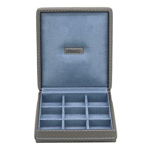 Friedrich 23 - Ecrin 9 Boutons De Manchette, Bleu-gris Carbon