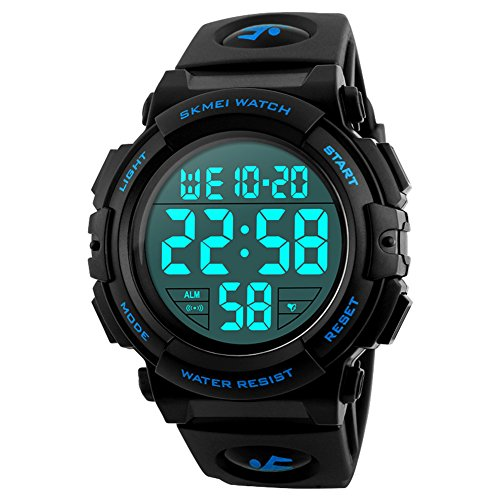 Herren Digitale Armbanduhr, Outdoor Laufen 5 Bar...
