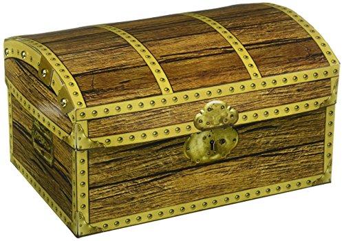 Beistle 50354Caja con diseño de cofre del tesoro, 20,3x 14cm