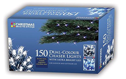Benross The Christmas Workshop–79990150LED Dual Chaser Lights–Hellen Blau und Weiß