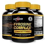 Tyrosine Complex, L Tyrosine with AAKG L-Arginine Alpha-ketoglutarate, Beetroot Extract, and Citrulline Malate: Helps Regulate Sleep, Improve Mood, Combat Stress and Fatigue, 500 mg - 90 Capsules