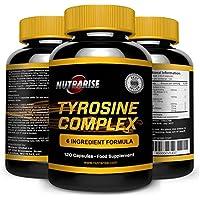Complesso Essenziale di Tirosina e Integratore di Aminoacidi: Aiuta a Regolare il Sonno, Aumenta l'Energia e il Livello dell'umore, Combatte Stress e Affaticamento, 500mg, 90 Capsule